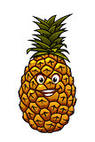 Fun cartoon tropical pineapple fruit