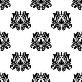 Seamless pattern of floral arabesque motifs
