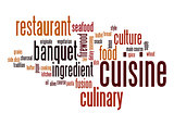 Cuisine word cloud