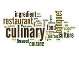 Culinary word cloud