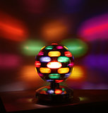 Colorful disco lights ball