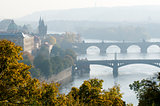 Prague in fog