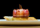 Typical Spanish bacon and Chorizo Pincho.