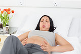 Pregnant woman suffering from labor pains