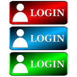 Login icons set