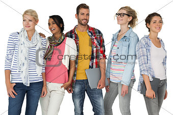Portrait of casually dressed young people