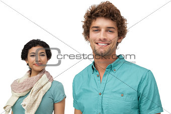 Portrait of a smiling casual young couple