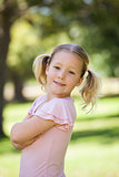 Portrait of a smiling girl at park