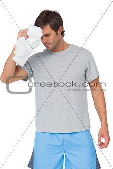 Fit young man with towel
