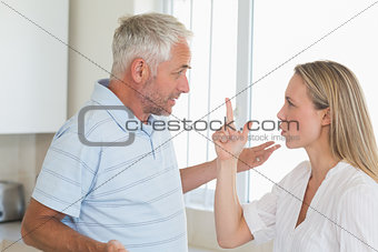 Angry couple having an argument