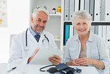 Female senior patient visiting doctor