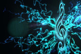 Digitally generated music background