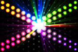 Digitally generated disco light background