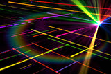 Digitally generated disco laser background