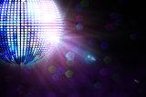 Digitally generated disco ball