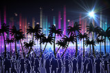 Digitally generated nightlife background