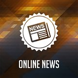Online News on Triangle Background.