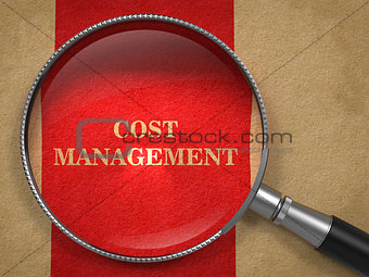 Cost Management - Magnifying Glass.