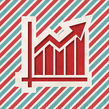 Growth Concept on Retro Striped Background.