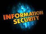 Information Security on Digital Background.