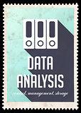 Data Analysis on Blue in Flat Design.
