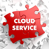 Cloud Service on Red Puzzle.