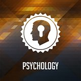 Psychological Concept on Triangle Background.