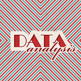 Data Analysis Concept on Striped Background.