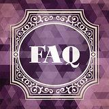 FAQ Concept. Vintage design.