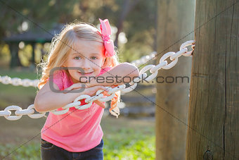 Cute Young Girl Portrait at the Park