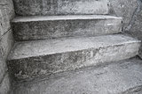 Concrete stairway as abstract composition