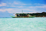 Traditional Philippine boat