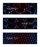 Set of abstract modern futuristic banners