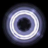 Abstract glowing circle. Design element
