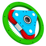 Mechanism of colored gears