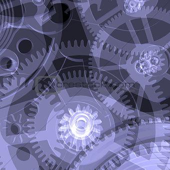 Clock mechanism. X-ray