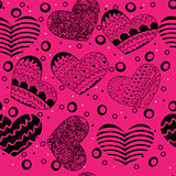 valentine seamless hearts pattern  Wallpaper, background with hearts