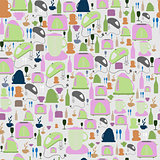 Seamless vector pattern. Kitchen/food background