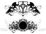 set of ornamental shields