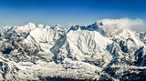 Himalayas mountains Everest range panorama