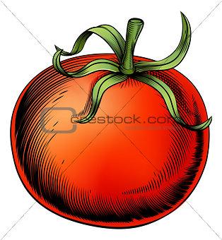 Tomato vintage woodcut illustration