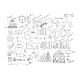 Business sketches: buildings, words and more