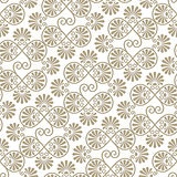 Vector seamless floral paper cut pattern