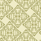 Vector Vintage Seamless  Floral Pattern