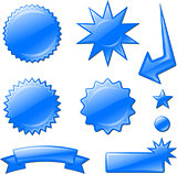 blue star burst designs