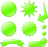 green star burst designs