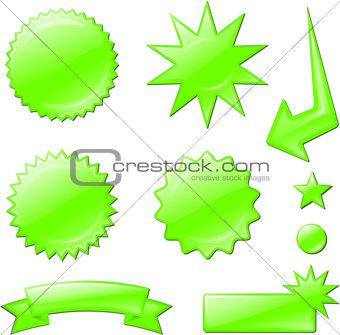 green star burst designs