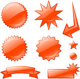 red star burst designs