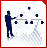 Businessman presentation with diagram
