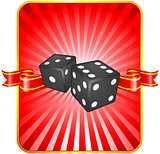 Black Dice on Background
